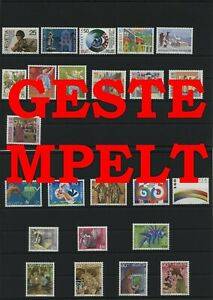 Suisse-Suisse-Vintage-Yearset-1989-Timbres-Used-Complet-Sh-Boutique-Ms