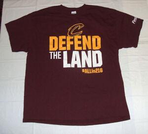 e285d10da Cleveland Cavaliers Defend The Land XL T-Shirt Wine   Gold Gildan ...