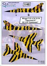 """Syhart Decals 1/48 MIRAGE F-1C TIGERMEET 1991 EC 1/12 """"CAMBRESIS"""""""