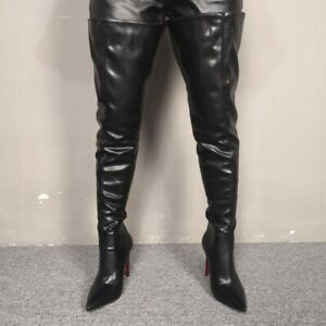 Custom-made-Sexy-Women-Overknee-High-Thigh-Boots-Pointy-Toe-Stilettos-Heel-Shoes