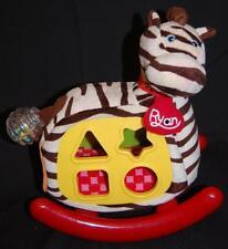 "Rocking Zebra Interactive Musical Baby Rattle Plush 12"" Toy Lovey K's Kids Ryan"