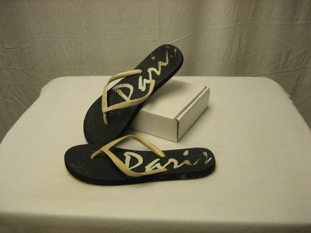 Rue Flips Paris Black Inches Flip Flops Sandals About 10 Inches Black Long 202cc7