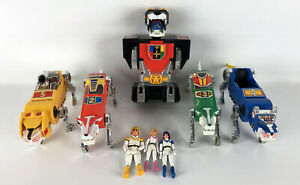 Voltron-5-Piece-Lion-World-Events-Figure-Red-Blue-Yellow-Green-Vintage-1984