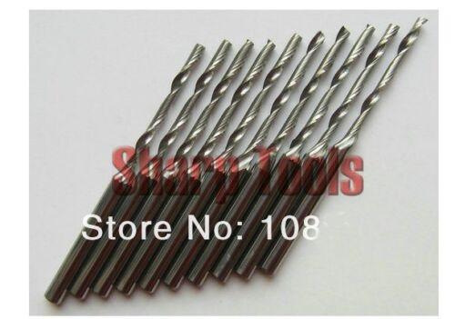 Lot 10pcs One//Single Flute Spiral CNC Router Bits 2 mm 22 mm Router Bits