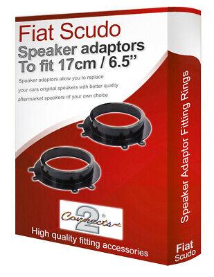 """Fiat Scudo speaker adapter pods Front Door 17cm 6.5"""" fitting rings adaptors"""