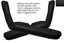 RED STITCH 2X DOOR HANDLE ARMREST SKIN COVERS FITS MAZDA MX5 MK1 MIATA 89-97