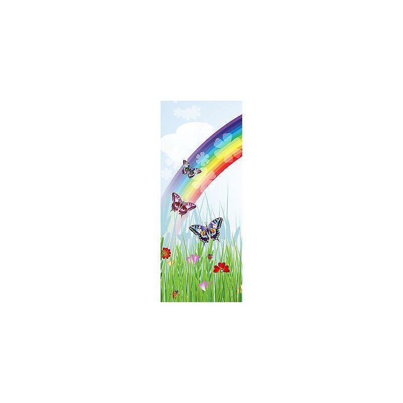 Adesivo Bambino Porta Farfalle Arcobaleno Ref 1738