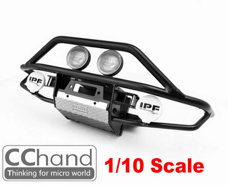 Cc a mano de metal parachoques delantero Fit RC4WD 1 10 TF2 Mojave con luces no Cabrestante (B)