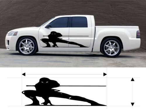 VINYL GRAPHIC DECAL NINJA CAR TRUCK BOAT KITS CUSTOM SIZE COLOR VARIATION F3-72