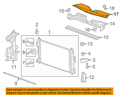 Buick GM OEM Radiator Core Support-Sight Shield Splash Cover Panel 22896051