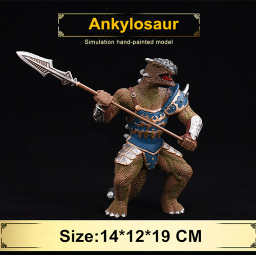 Tyrannosaurus Ankylosaur Spinosaurus Carnotaurus  Warrior Dinosaur Figure Gift