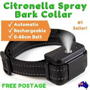 2019-CITRONELLA-SPRAY-BARK-COLLAR-Automatic-Rechargeable-Adjustable-Belt-0-66cm