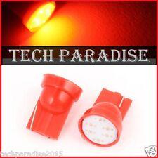 2x Ampoule T10 / W5W / W3W LED COB 3W 12 Chips Rouge Red veilleuse lampe light