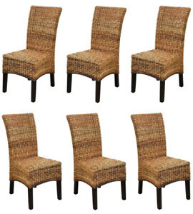 Kmh 6 Set Esszimmerstühle Rattanstühle Korbstühle Essstühle Stühle