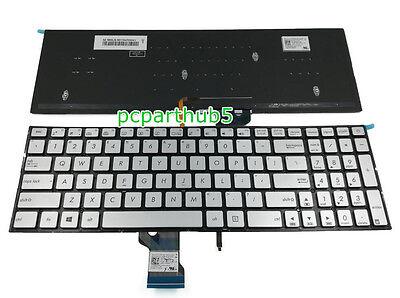 New Silver Asus N541L N541LA Q501L Q501LA Keyboard US No backlit