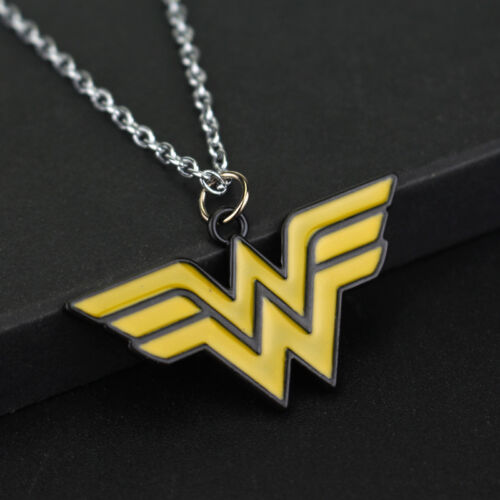 Alloy Link Chain Anime Necklaces Wonder Woman Pendant Necklace Fashion Jewelry