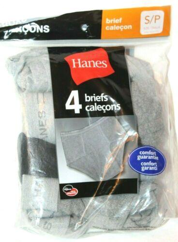 Hanes Boys/' Gray//Black//Multi 4-pk Cotton Brief Briefs Underwear S//XL