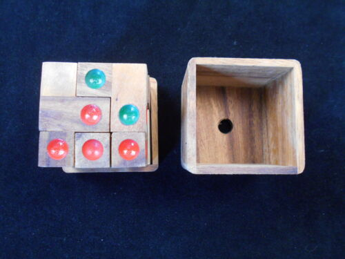 wood brain teaser puzzle wooden Dice Cube Challenge