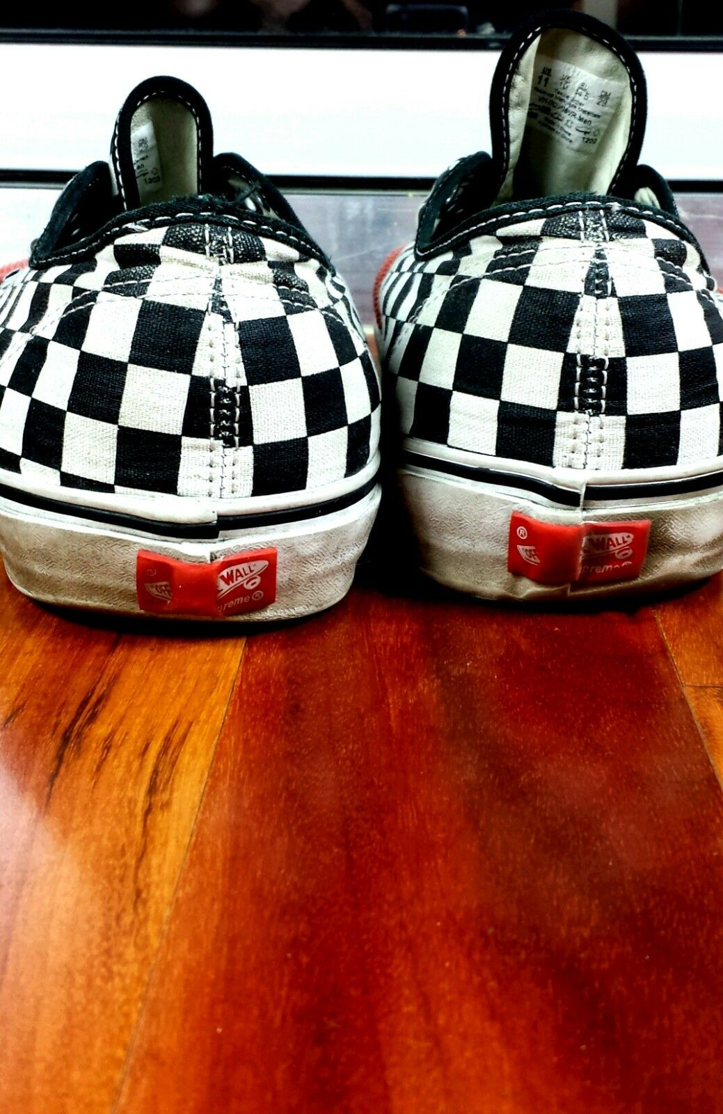 Supreme Vans Checkerboard Checkerboard Checkerboard Corduroy Coral Red Check 10.5 w  Org Box fef286