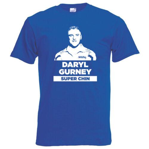 Daryl Gurney Super Chin Darts Blue T-Shirt Unisex S-XL UNOFFICIAL