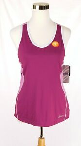 NWT-Asics-Women-Pink-Athletic-Tank-Top-Semi-Fitted-Medium-Hidden-Bra-Hydrology