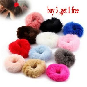 Fashion-Fluffy-Faux-Fur-Furry-Scrunchie-Elastic-Hair-Ring-Rope-Band-Tie