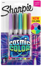 Sharpie Permanent Markers Ultra Fine Point Cosmic Color Limited Edition 5 Co