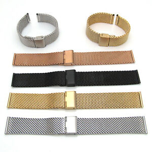 Watch Strap Shark Mesh Chainmail STAINLESS STEEL Mens Ladies Band Bracelet S63