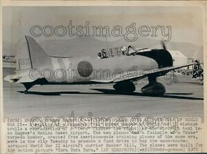 1972-Replica-of-Japanese-Aichi-D3A-Val-Dive-Bomber-Plane-WWII-Press-Photo