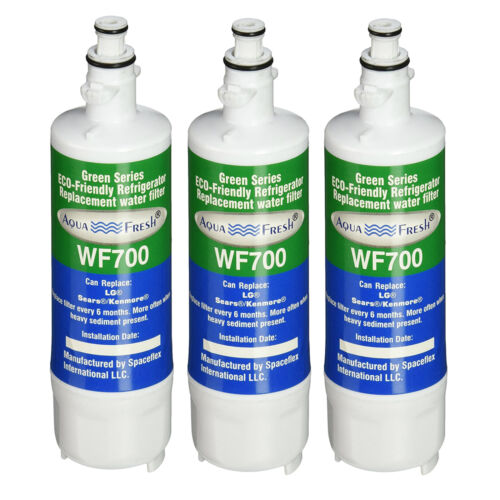 3 Pack Fits LG LFXC24726S Refrigerators Aqua Fresh Replacement Water Filter