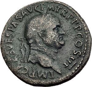 VESPASIAN-Genuine-71AD-Rome-Sestertius-Authentic-Ancient-Roman-Coin-SALUS-i64507