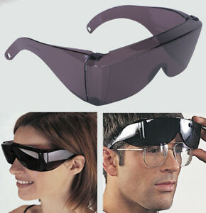 Wrap-Around-Black-Sunglasses-UV-Protection-Over-Glasses-Safety-Shields-Post-Op