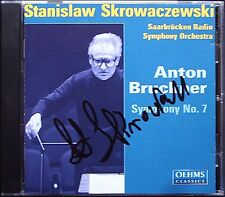 Stanislaw SKROWACZEWSKI Signiert BRUCKNER Symphony No.7 OEHMS CD Sinfonie Signed