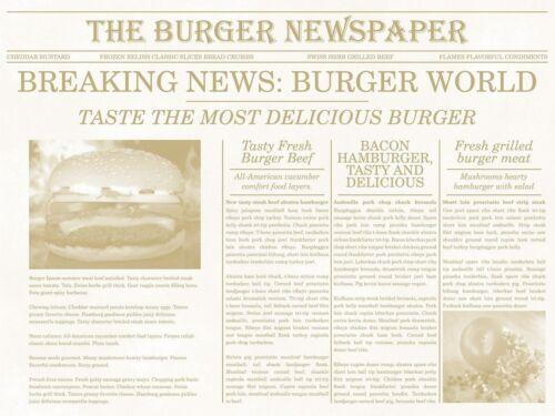 40 x 30 cm Mank 500 Stück Papier Tischset Newspaper in Beige Platzdeckchen