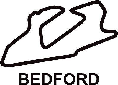 X2 Bedford Autodrome Gt Circuit Race Track Outline Vinyl