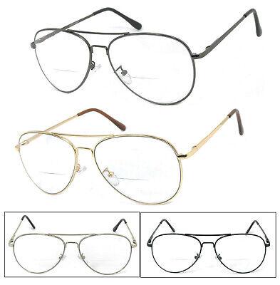 1 Or 2 Paar Metall Brillenfassung Piloten Biofokal Lesebrille Feder-scharnier Online Shop