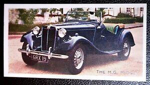 M-G-Midget-Original-Vintage-1950-039-s-Coloured-Card-VGC