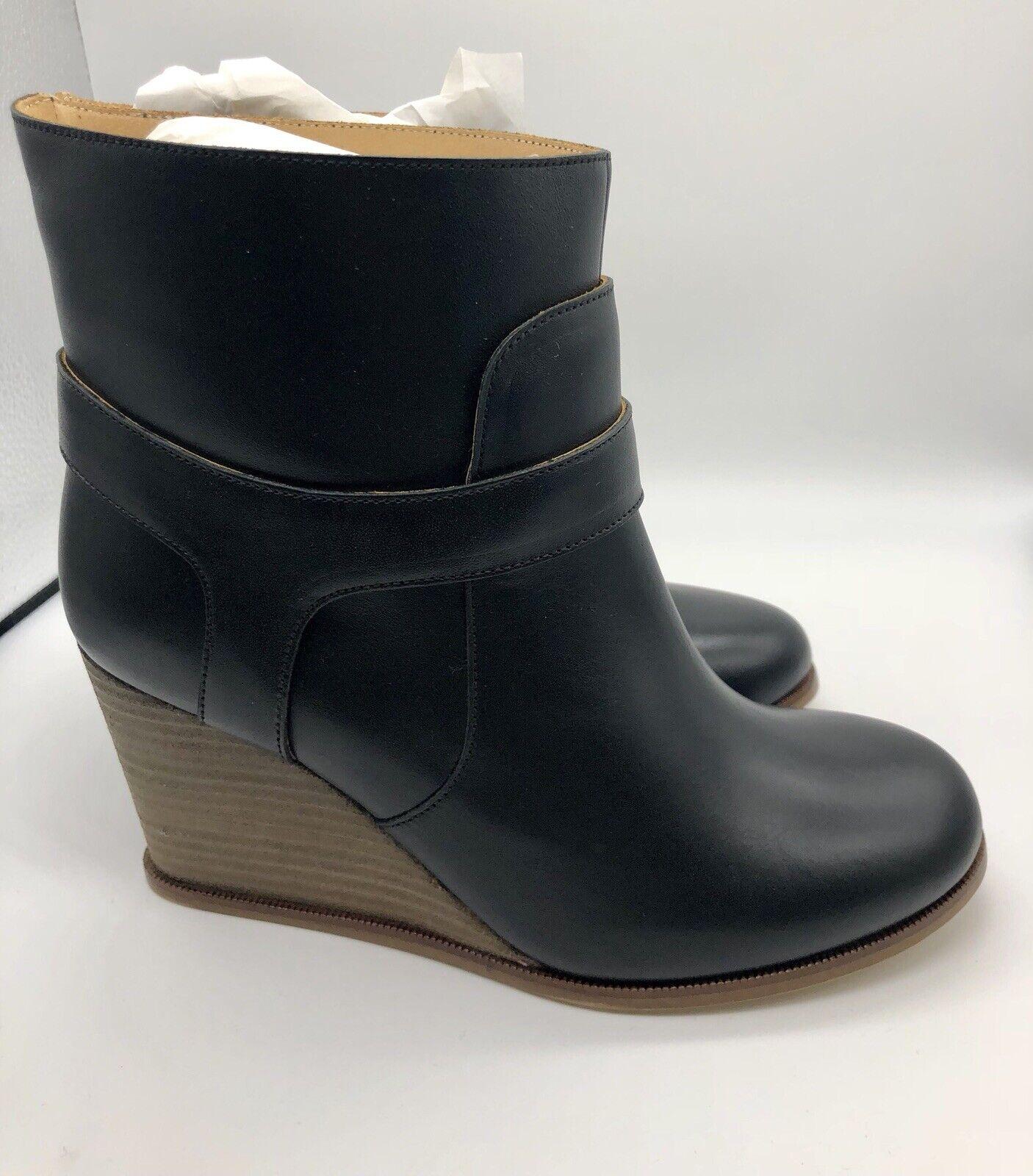 NEW MM6 MAISON MARTIN MARGIELA Black Leather Ankle Boots Sz 6