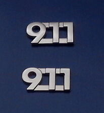 """911 police/fire/ems dispatcher collar/lapel pins Nickel (silver)  3/8"""" 9-1-1"""