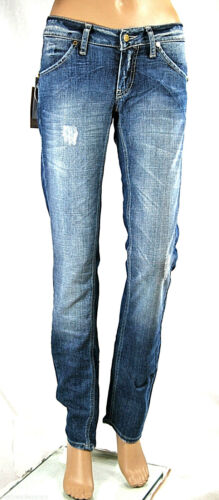 Jeans Donna Pantaloni MET Made in Italy Regular Fit C545 Tg da 25 a 33
