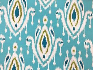 Indoor  Outdoor Upholstery Fabric By The Yard Outdoor Stripe Aqua Teal Brown