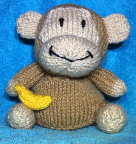 KNITTING PATTERN 13 cms toy Cheeky Little Monkey chocolate orange cover