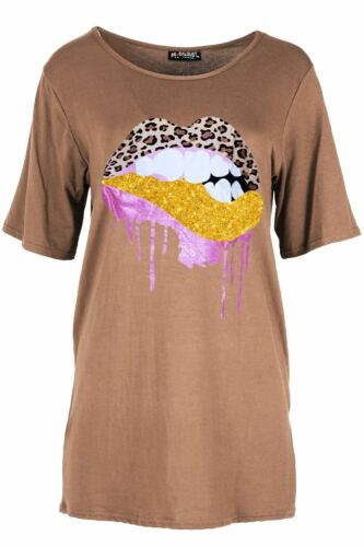 Da Donna sognatore Stampato Donna Basic Casual Larghi Sciolto Oversize T-shirt Tops