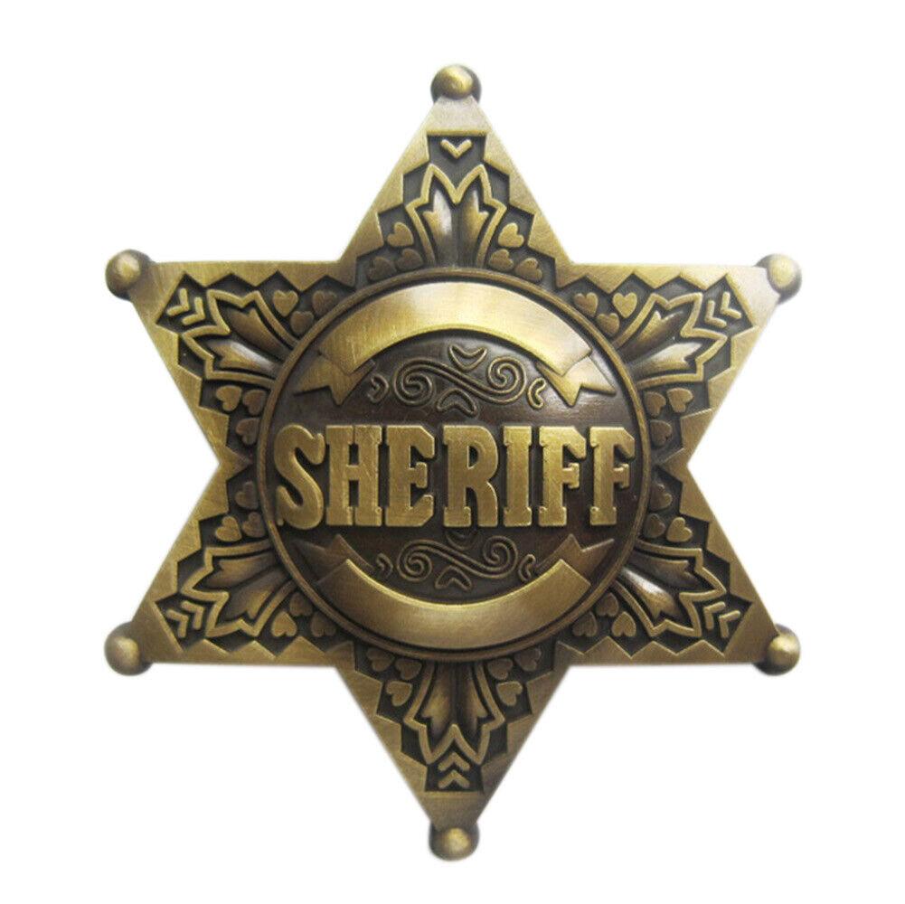 Sheriff's Badge II Gürtelschnalle Sherriff Sheriff Star Sheriffstern Cowboy