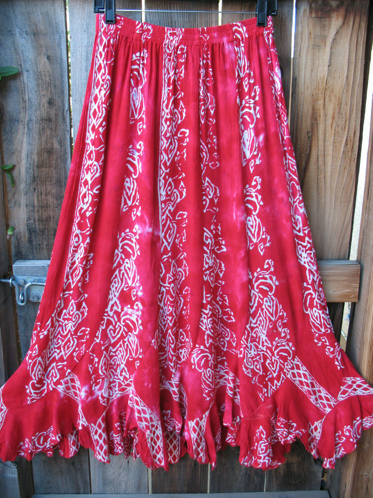 ART TO WEAR MISSION CANYON FLIRTY 30 SKIRT IN ALL NEW RUBY RED, OS, NWT