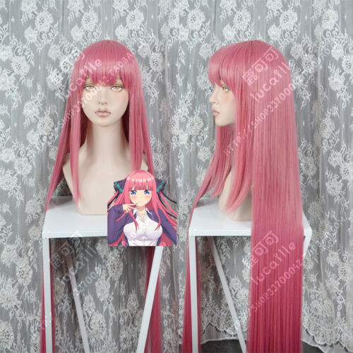 CAP Gotoubun no Hanayome Nakano Nino 1m Costume Cosplay Hair Wig Anime Track