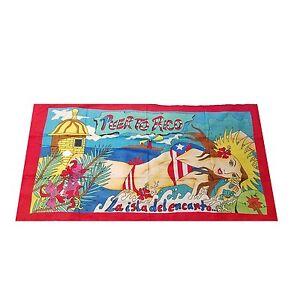 Puerto Rico Rican 30 x 60 INCHS Beach Towel (Cotton Twill) BORICUA GIRL #5
