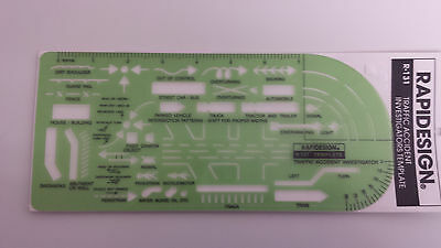 CHARTPAK R131 RAPIDESIGN 131R TRAFFIC ACCIDENT TEMPLATE