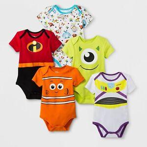 Intelligent Pixar Disney Baby Révélateurs Gilets 5 Pack Toy Story Monstres Incredibles Nemo-afficher Le Titre D'origine
