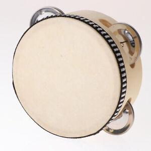 Holz Tamburin Trommel Glocke Spielzeug Kinder Musikalische Schlaginstrument